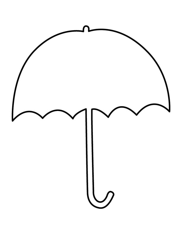 Coloring Pages Umbrella : Umbrella clipart coloring pages day