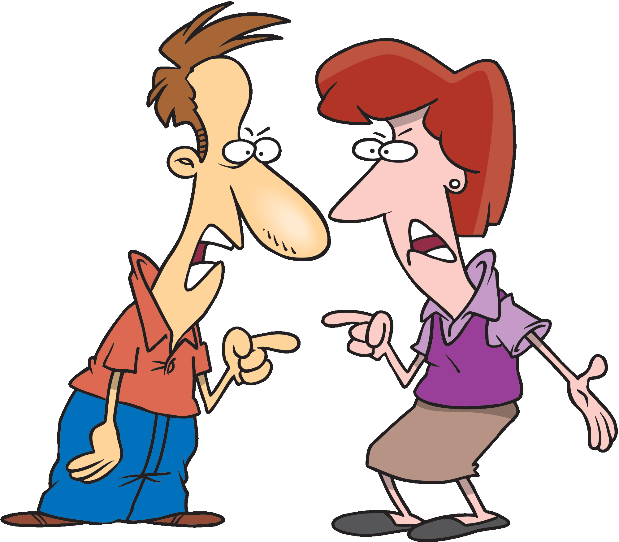 Pix For > Man And Woman Arguing Clipart