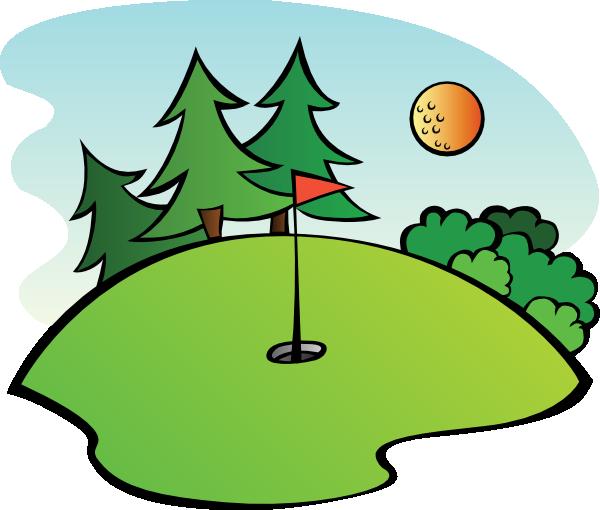 Golf Course clip art - vector clip art online, royalty free ...