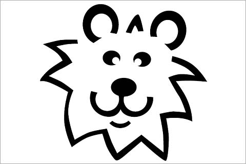 lion face stencil  clipartsco