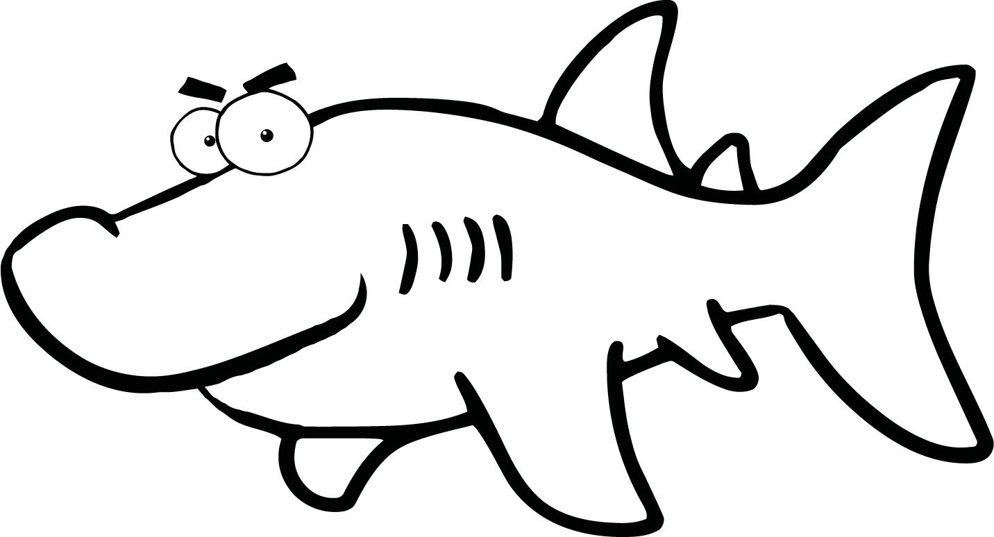 Black And White Shark Pictures Clipartsco