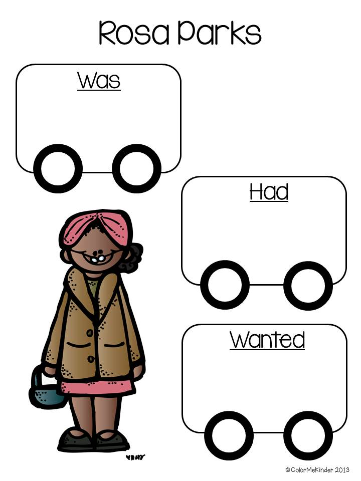 Color Me Kinder: Martin Luther King Jr. & Rosa Parks Freebie!