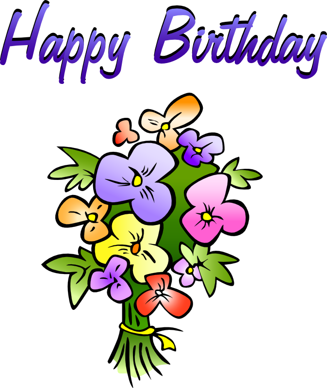 Free Birthday Greetings With Flowers Clip Art 2014 - Free Images