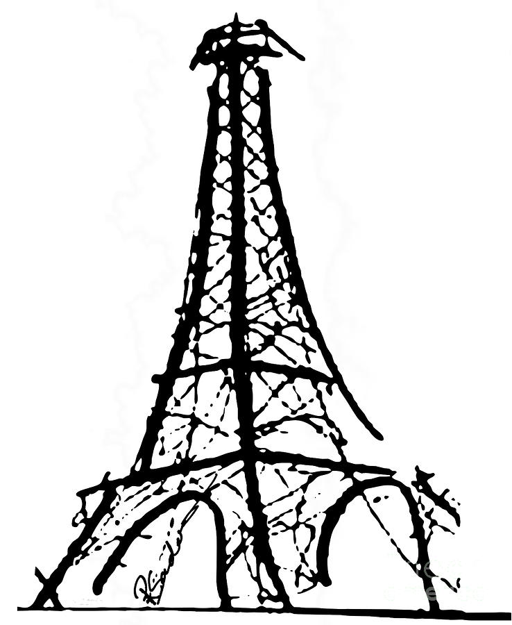 Line Drawing Eiffel Tower : Eiffel tower clipart cliparts