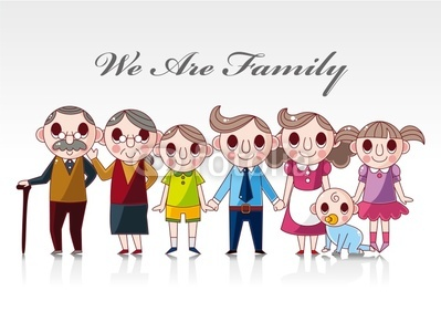 Clipart family of 6