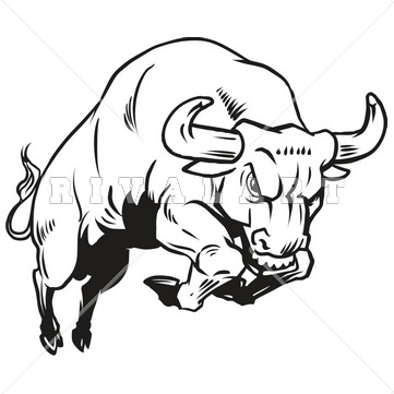 Charging Bull Drawing - Cliparts.co