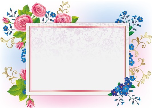 page border designs for projects with flowers clipartsco