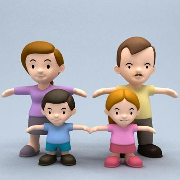 Bing Images Search Q: Cartoon Family Of 5