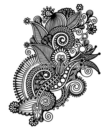 Black And White Flower Design - Cliparts.co