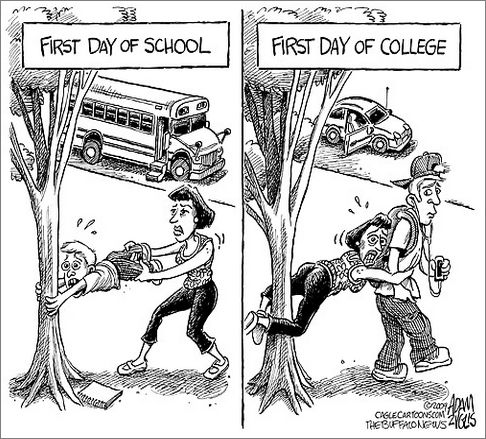 The English Blog: Cartoon: First Day of School