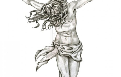 Drawing Of Jesus On The Cross | Tattoos Designs Ideas ...  Jesus Christ On The Cross Drawings For Tattoos