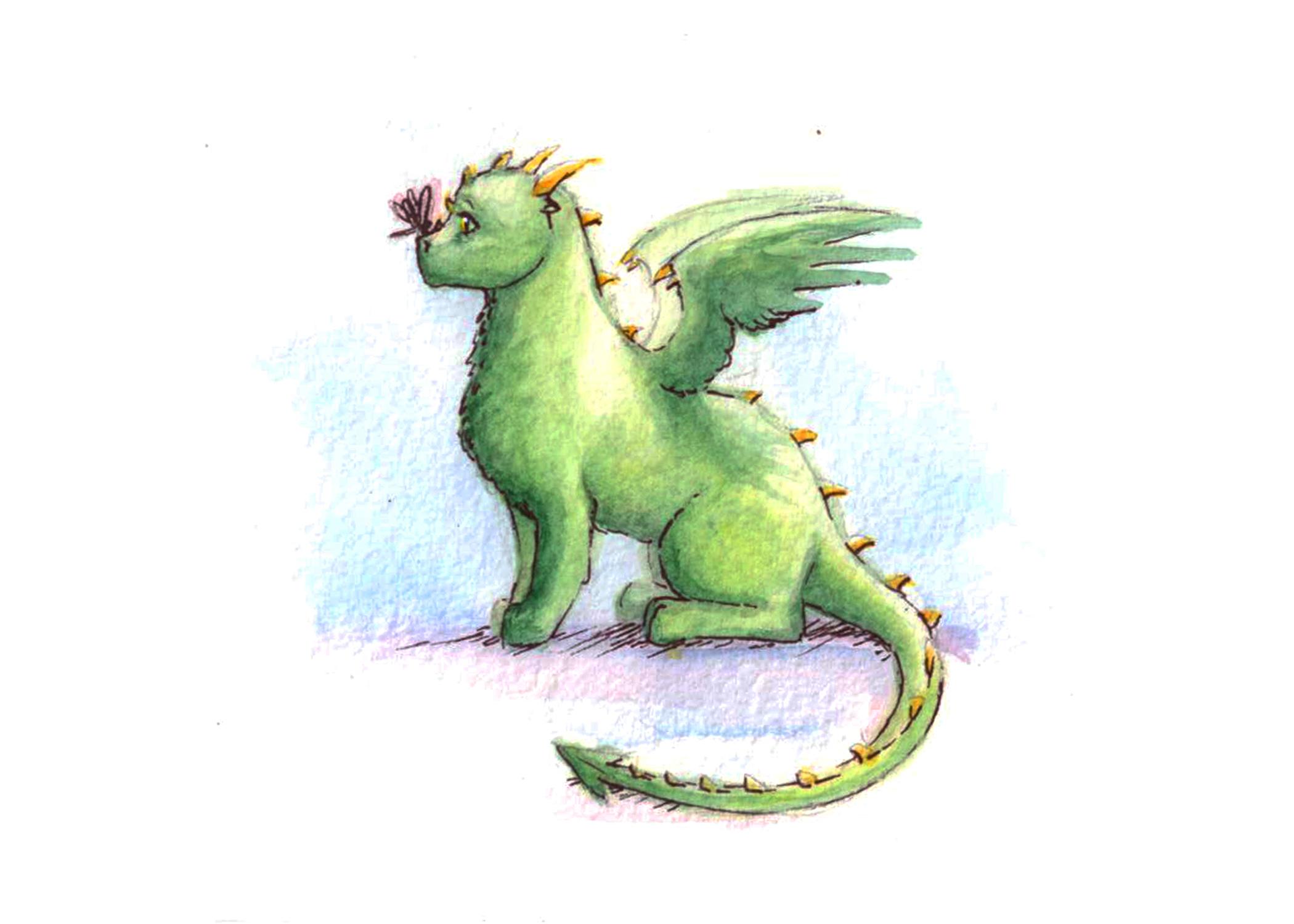 Lindos Dragones Para Imprimir: Cute Baby Dragon