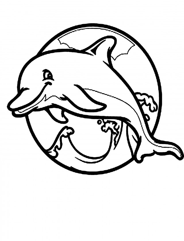 Cute Dolphin Pics Cliparts Co Coloring Pages Of Mermaids And Dolphins