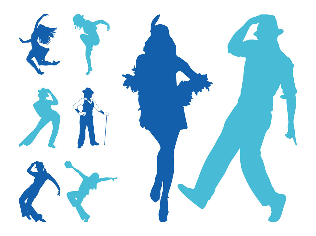 Jazz Dancer Clipart Silhouette