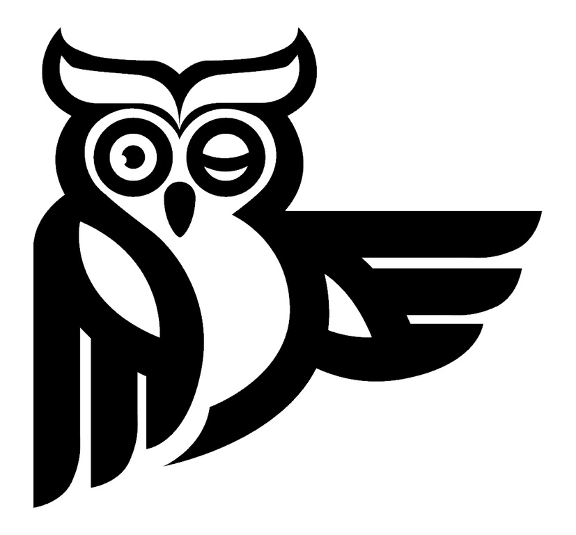 OWL,CARTOON,WINKING by Bedbarn Pty Ltd - 1343751