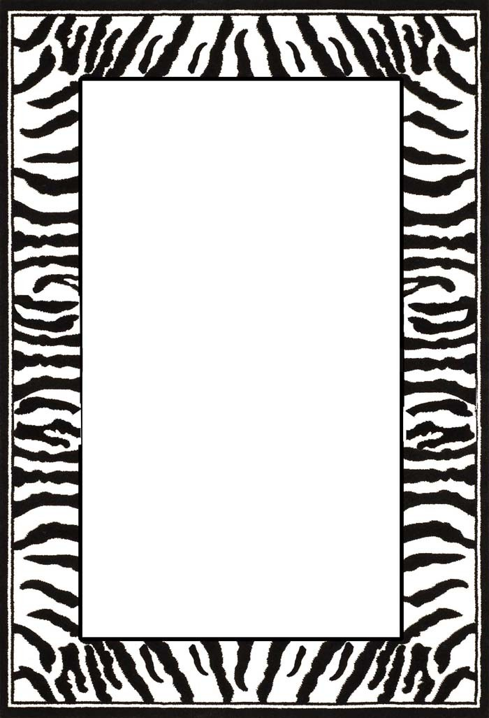 Zebra Print Clip Art Zebra Print Border Cli...