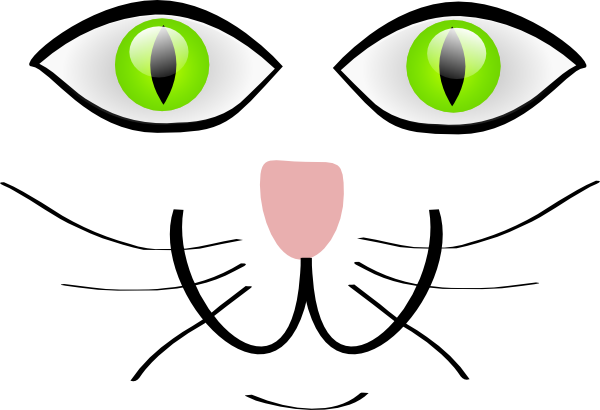 Cat Face Features clip art - vector clip art online, royalty free ...