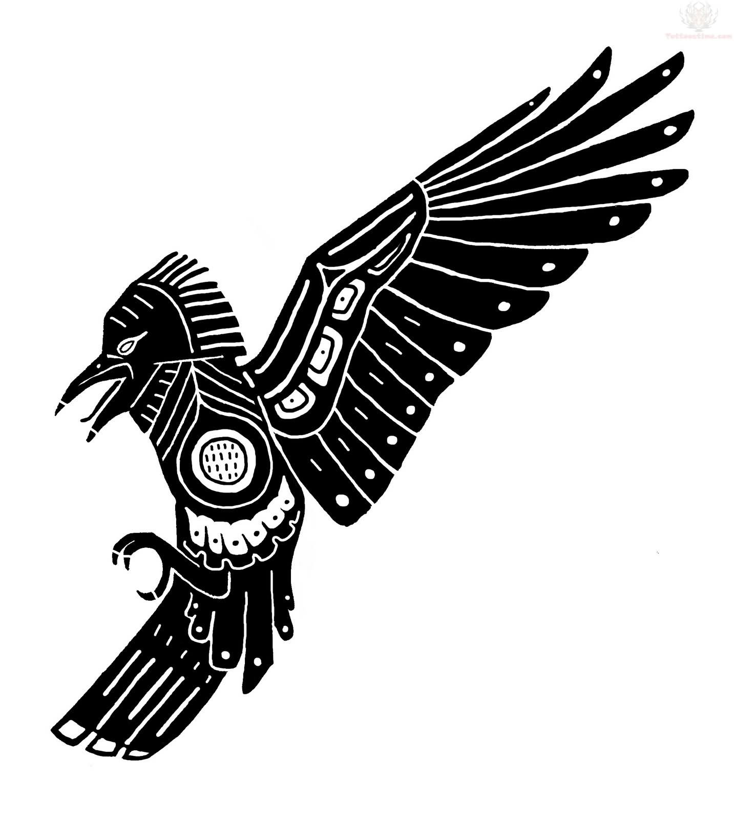 Tribal Crow Tattoo Designs Cliparts Co