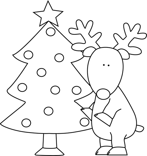 Christmas Black And White Images Cliparts Co