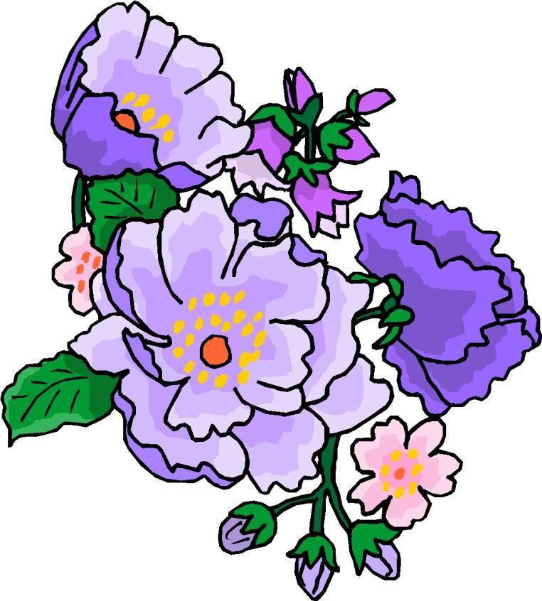 Free Purple Flower Clip Art - Cliparts.co