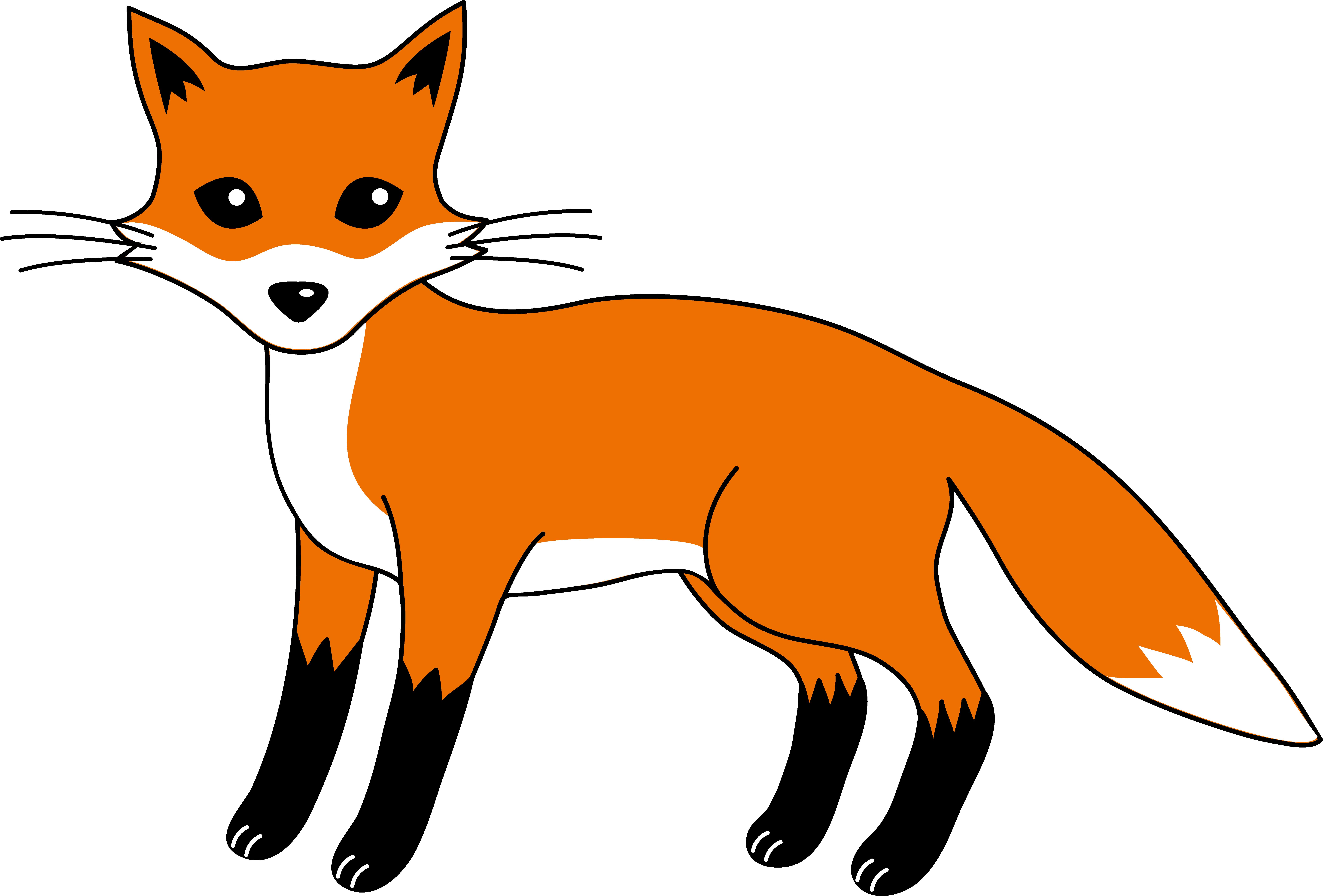 cartoon fox free clipart rh worldartsme com clipart fox terrier clipart fox black and white
