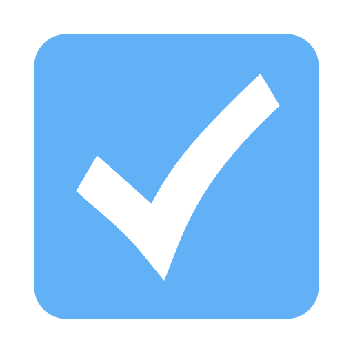 Tropical Blue Check Mark 8 Icon - Free Tropical Blue Check ...