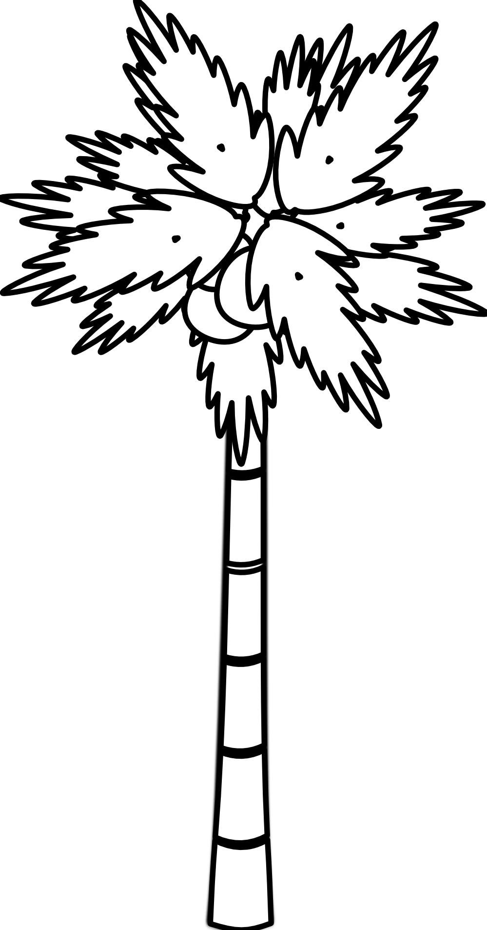 Palm Tree Clip Art Black And White | Clipart Panda - Free Clipart ...