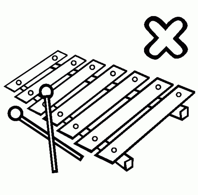 xylophone coloring pages. Black Bedroom Furniture Sets. Home Design Ideas