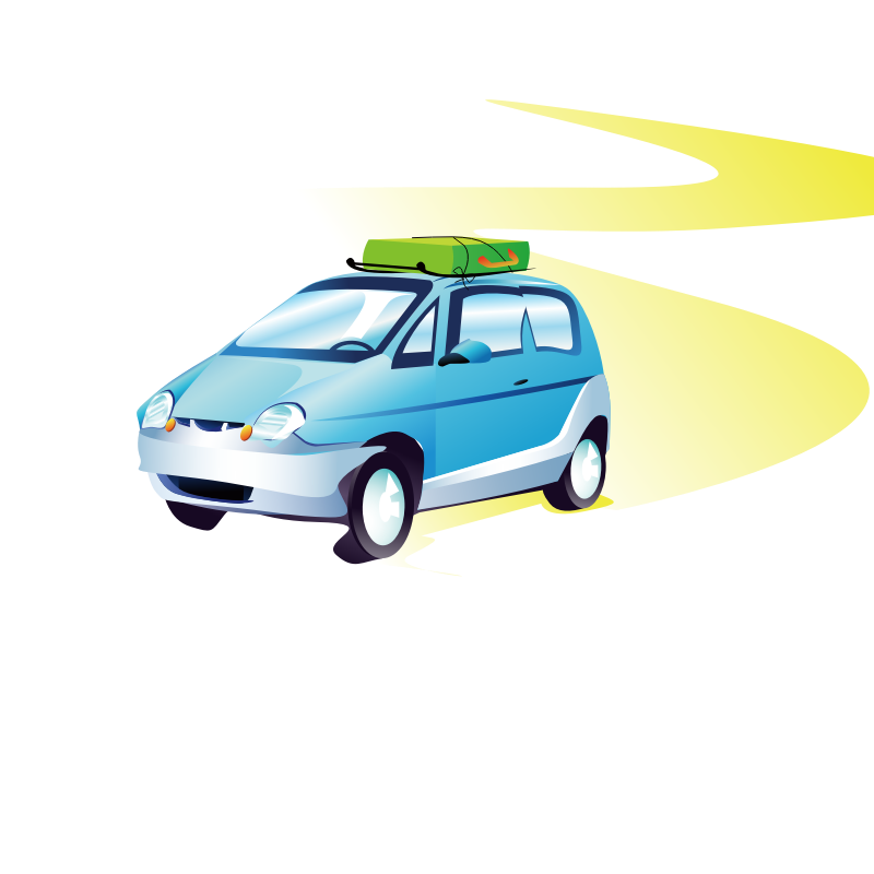 Clipart - travel car