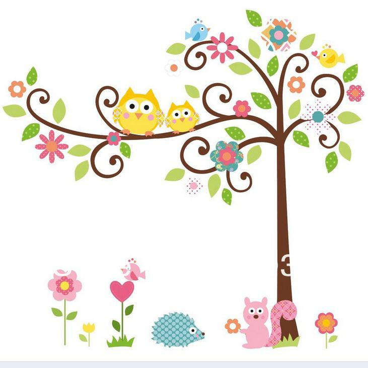 Рисунок дерева для детской комнаты