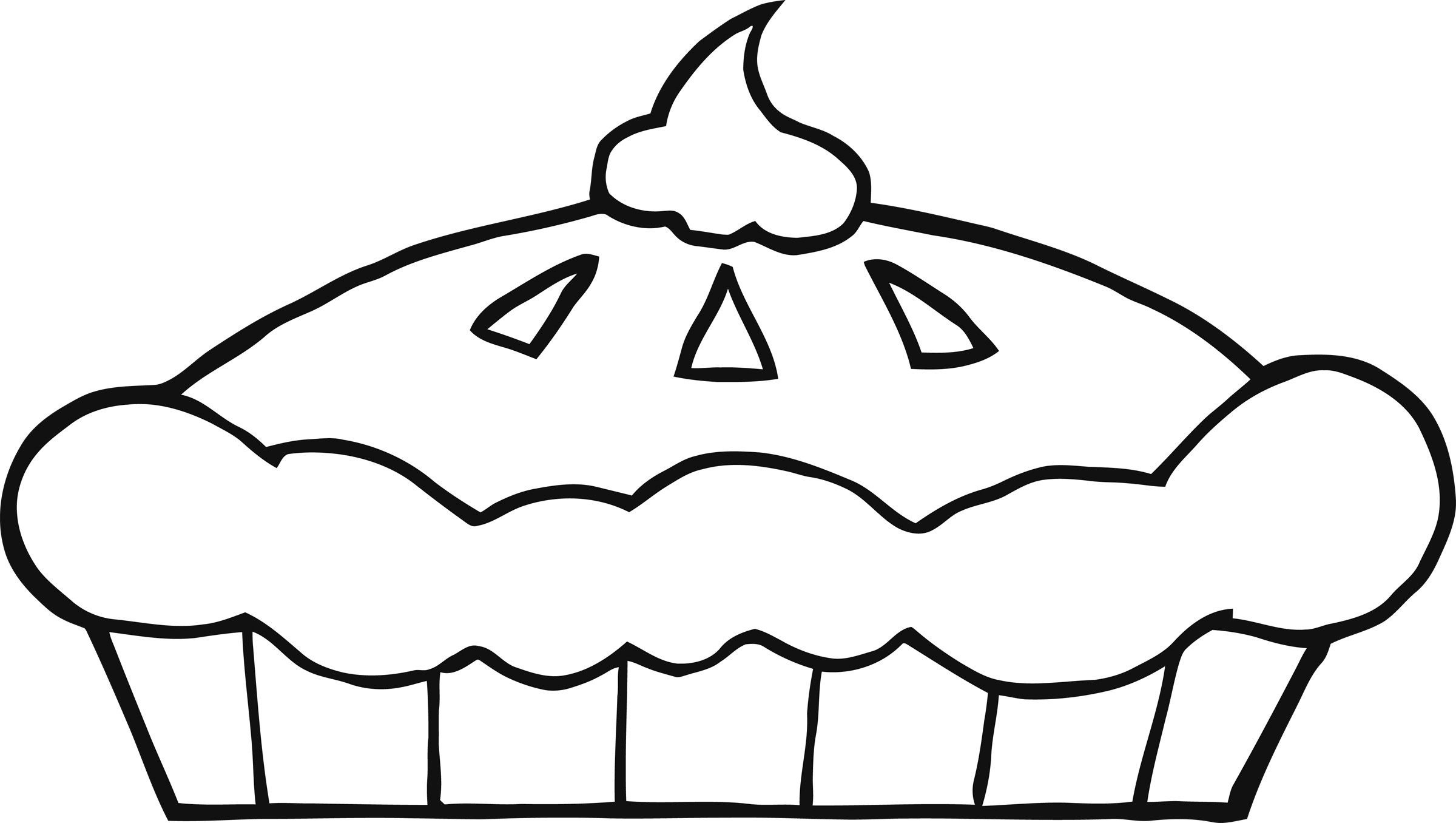 Pie Clipart Black And White | Clipart Panda - Free Clipart Images