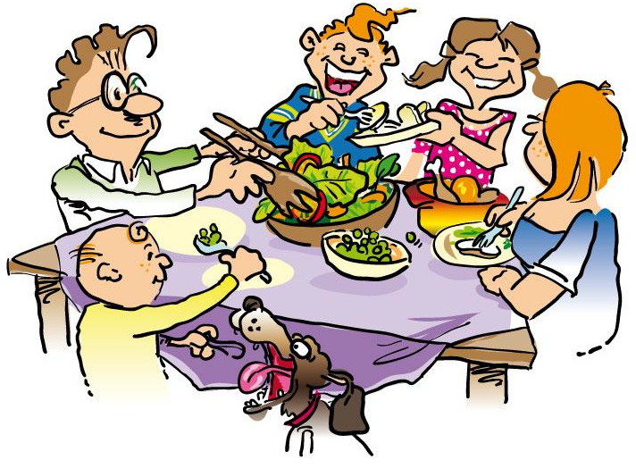 Family Dinner Table Clipart | Clipart Panda - Free Clipart Images