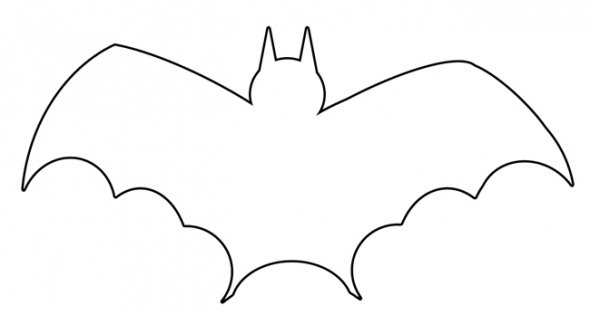 Amazing image with regard to bat outline printable