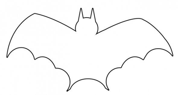 Sassy image in bat outline printable