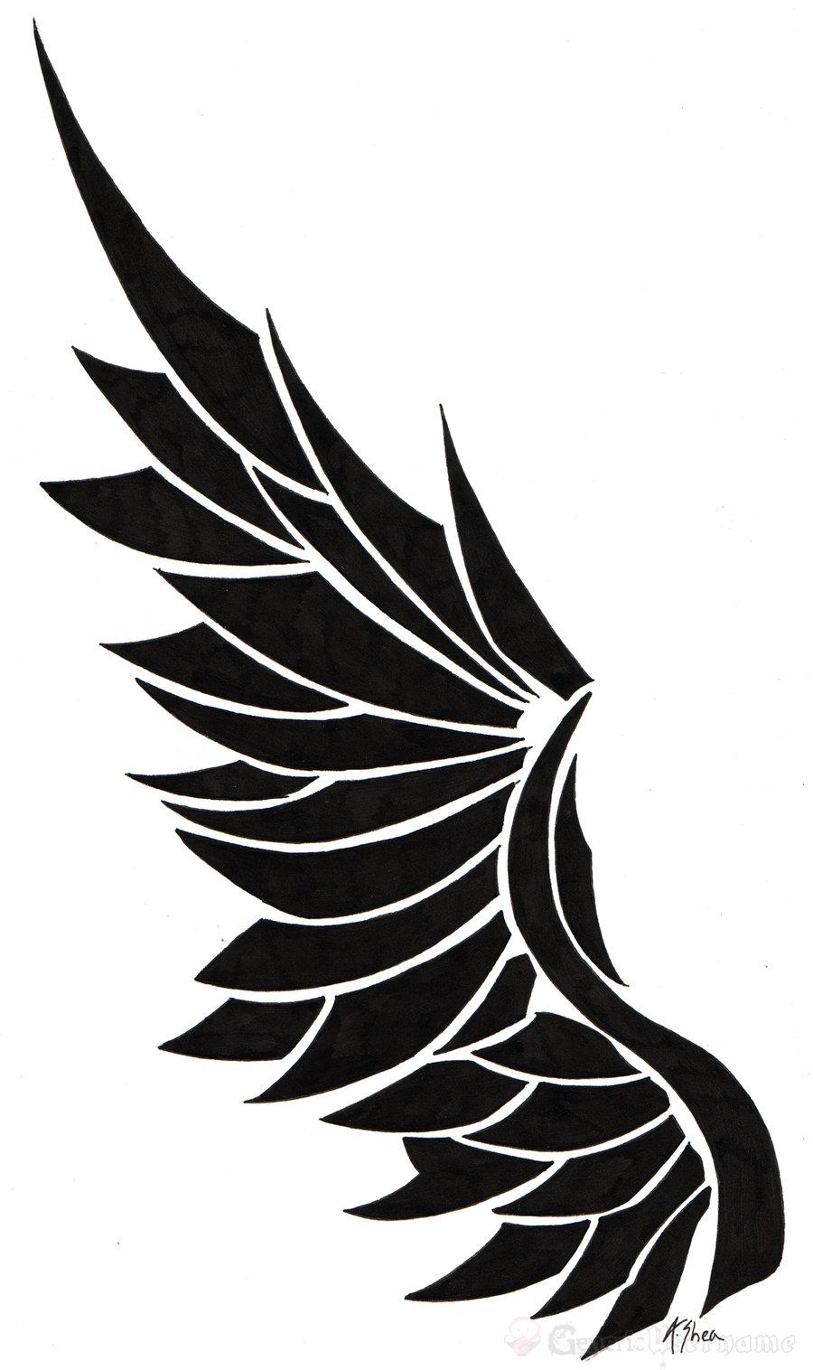 Ink wings tattoo by Gammatrap on deviantART: cliparts.co/angel-wing-logo
