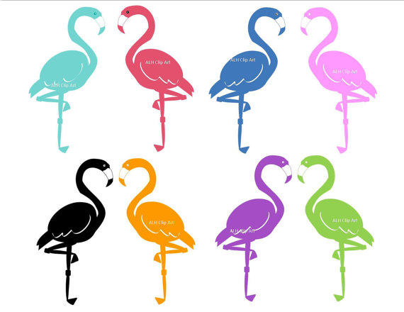 Flamingo Clipart Black And White | Clipart Panda - Free Clipart Images