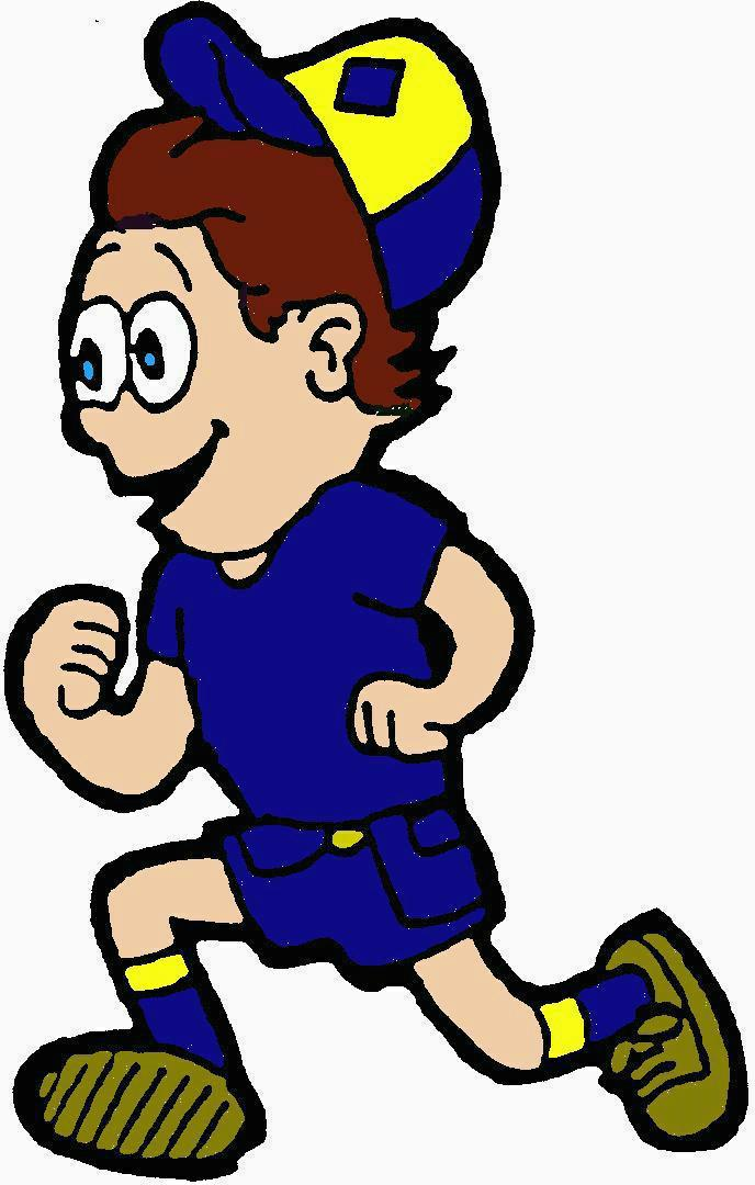 Kids Running A Race Clipart