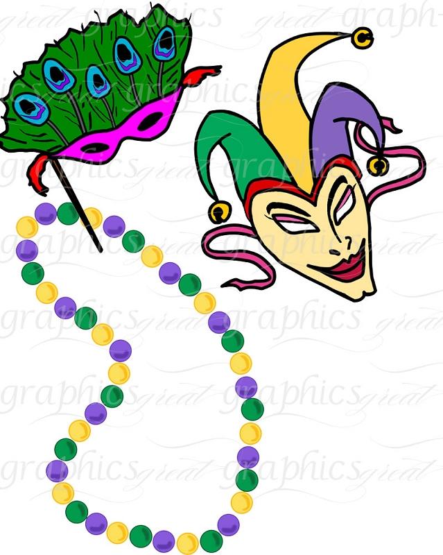 Mardi Gras Clip Art Mardi Gras Digital Clip Art Printable Clipart