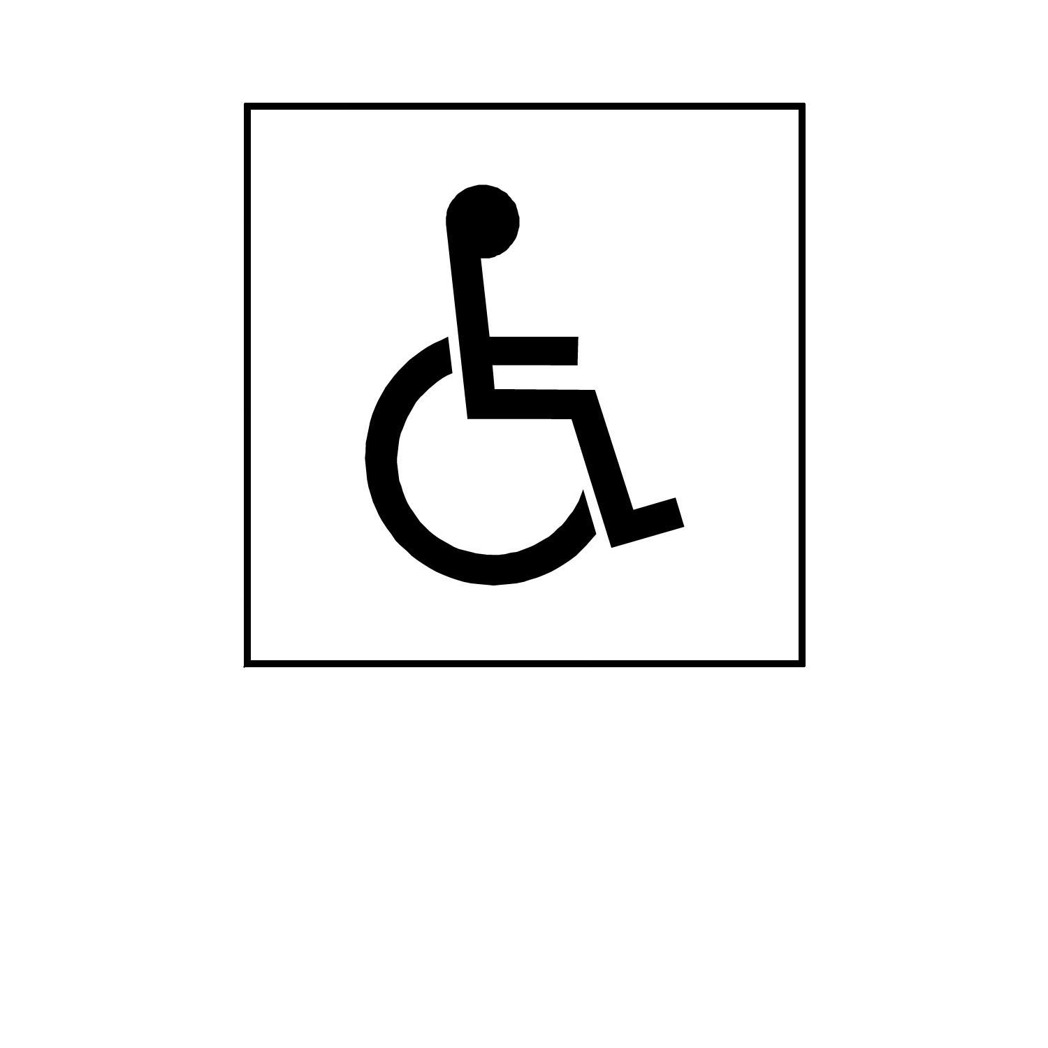 Printable Handicap Sign - Viewing Gallery