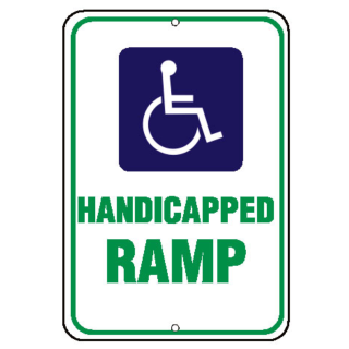 Barco Products Symbol of Access Signs ADA Symbol, Handicapped Ramp ...