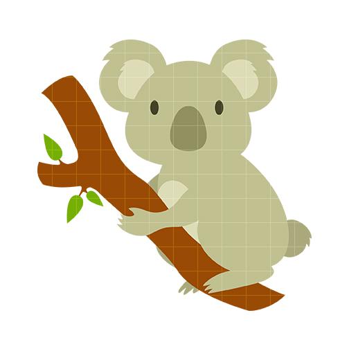 Koala bear Clip Art - Quarter Clipart