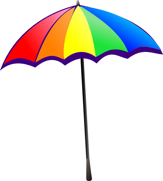 closed beach umbrella clipart rh worldartsme com beach umbrella clip art free images beach umbrella clip art free