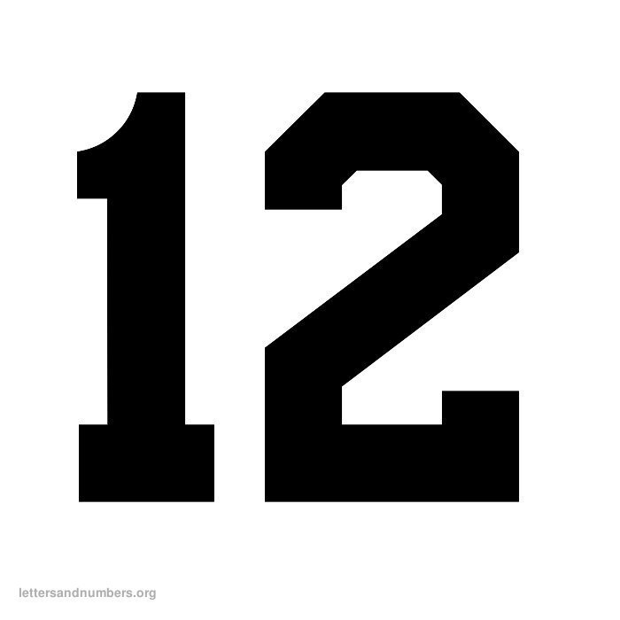 pictures of the number 12