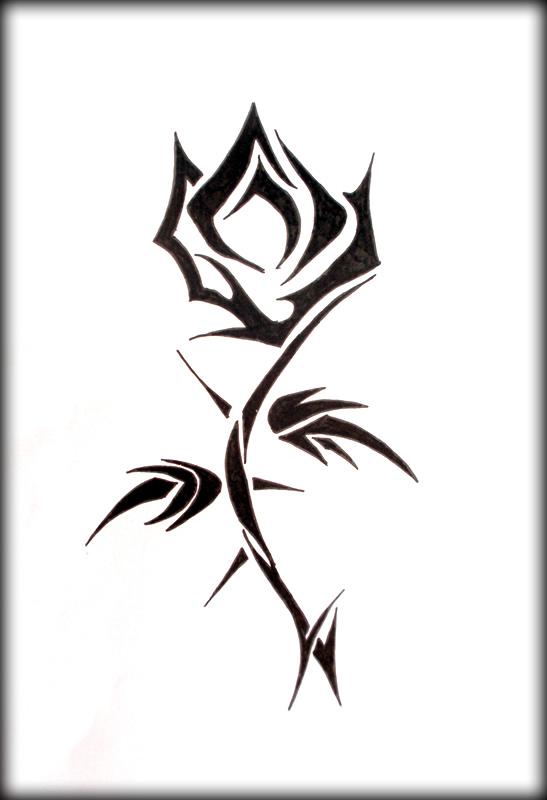Tato Bunga Mawar Tribal Cliparts Co