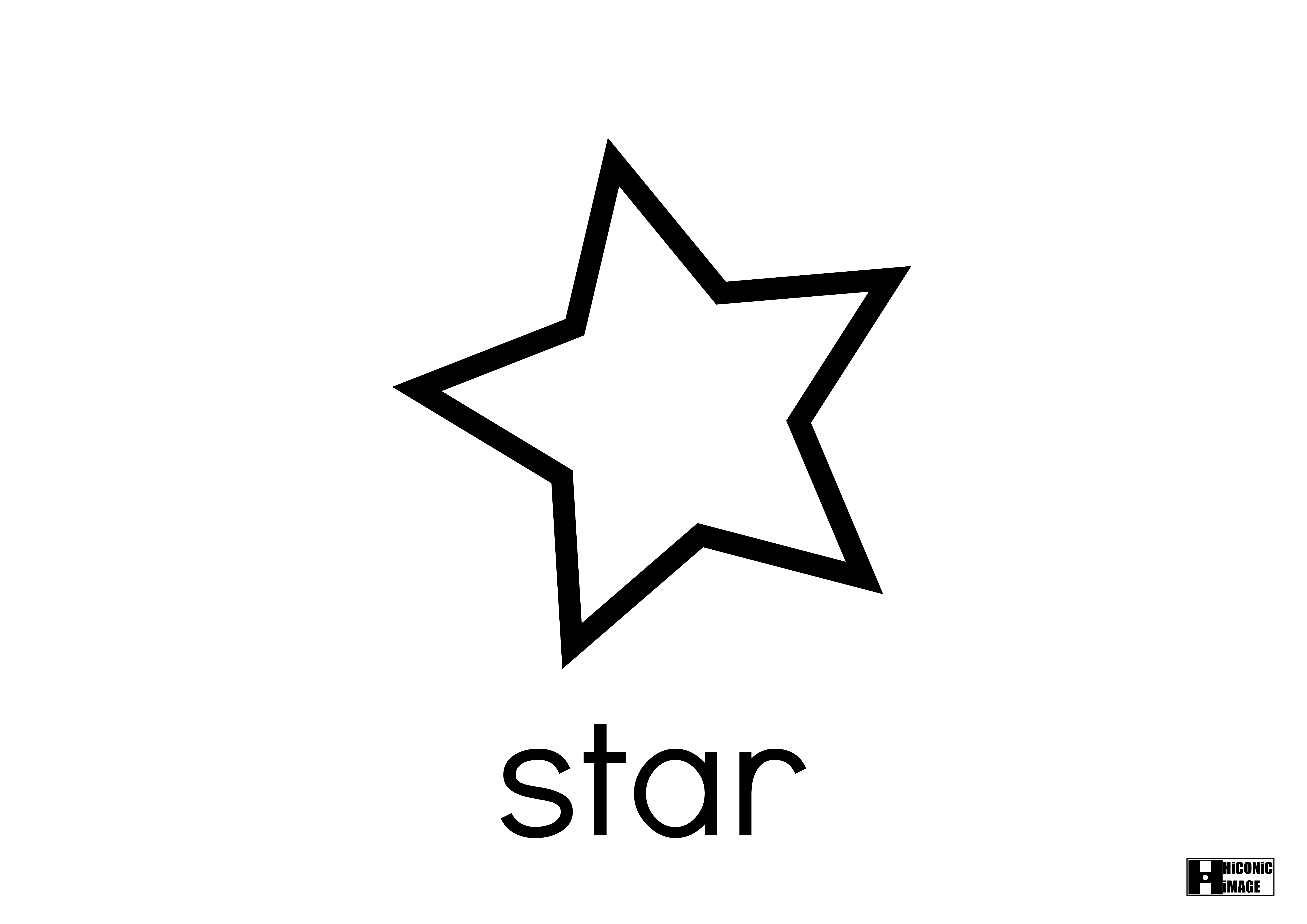 Star Shape Images on Shapes Coloring Pages For Kids