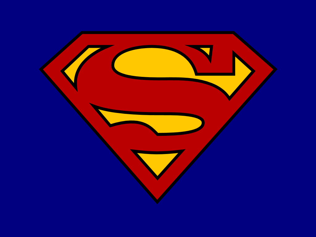 Lucrative image for printable superman logo