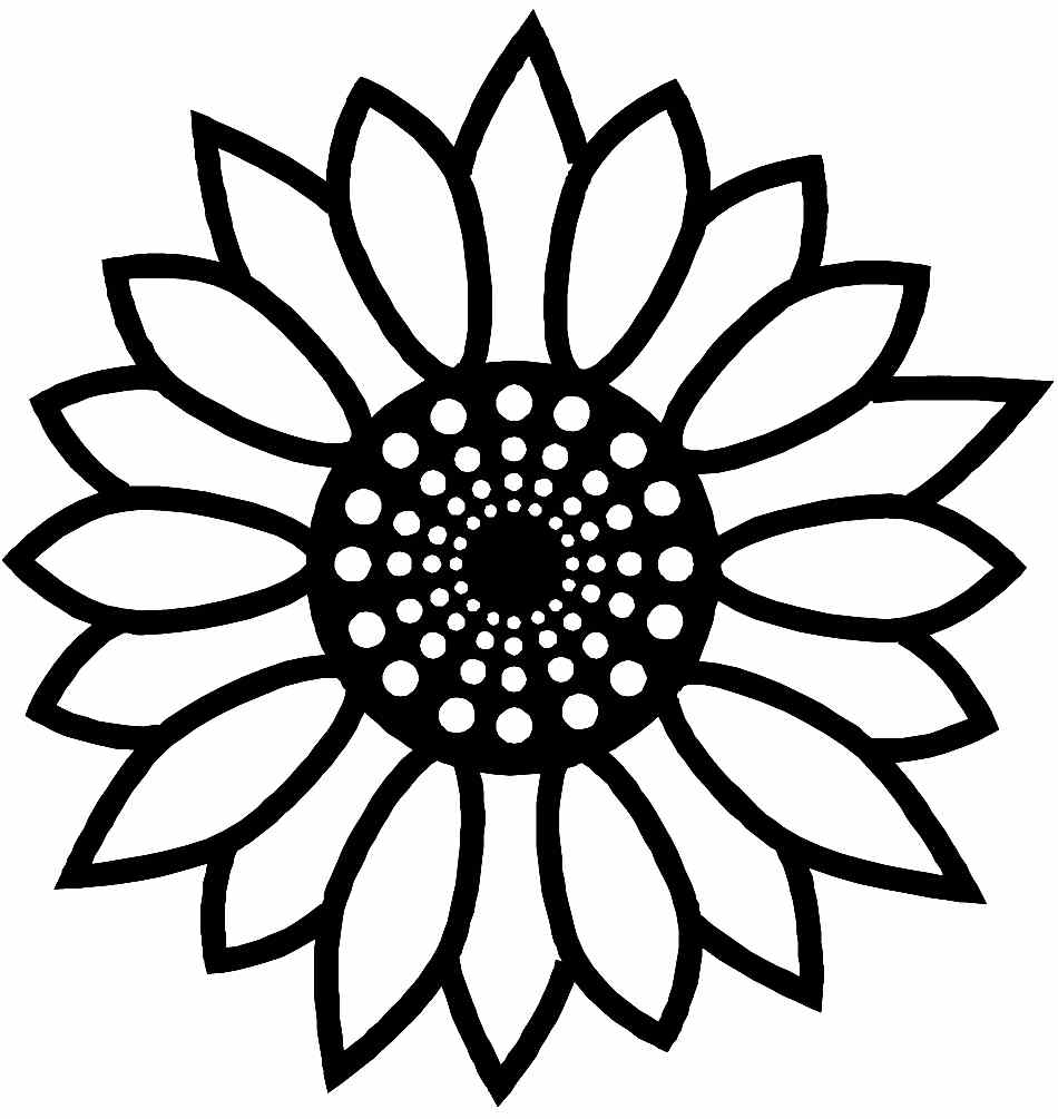 big sunflower coloring pages - photo#12
