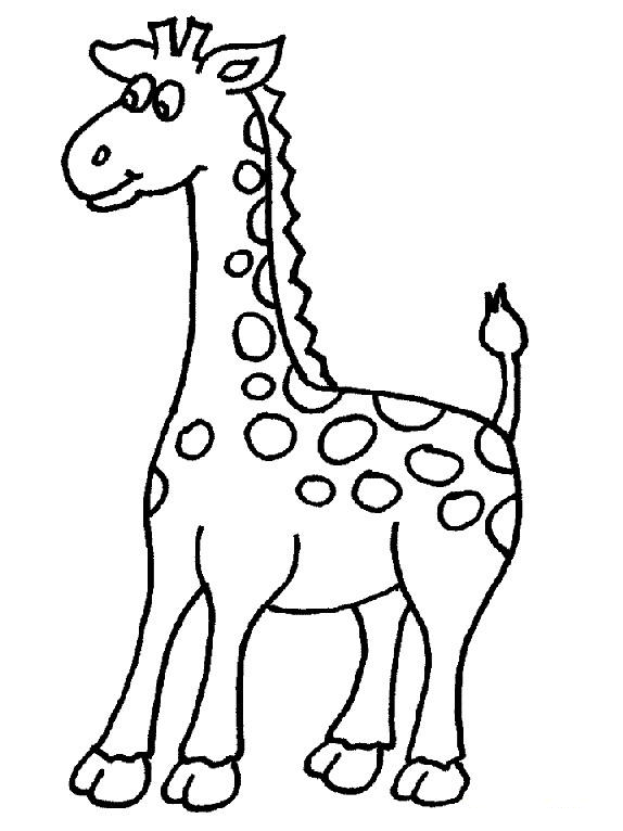 Cute Giraffe coloring page for kids printable - ClipArt Best ...