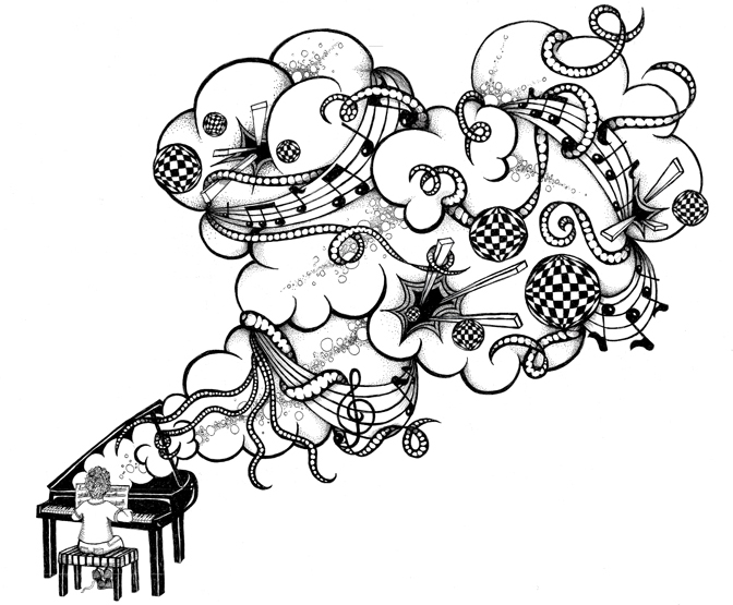 drawings cool notes note draw musical drawing designs clipart piano tattoo cliparts tattoos favorita mas cancion gust videoclip que mi