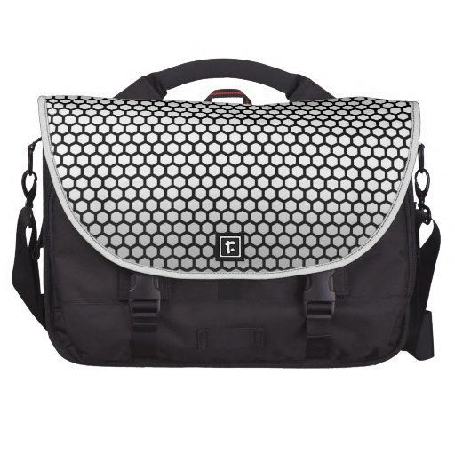 Cool Metallic Black and Silver Design.png Laptop Messenger Bag ...
